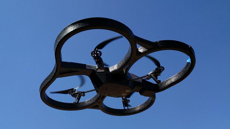 无人机因黑飞被抓获