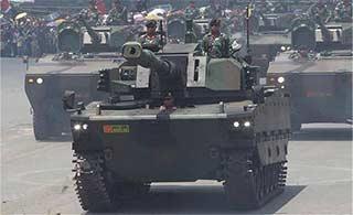 印尼首次展出和土合研轻型坦克