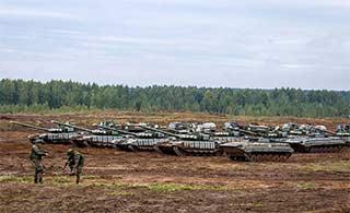 俄与白俄举行联合演习声势浩大