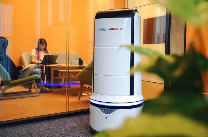呆萌!饿了么黑科技问世:外卖机器人将在楼宇送餐