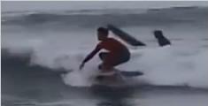 惊!美国加州一小伙脚踩58寸平板电视冲浪