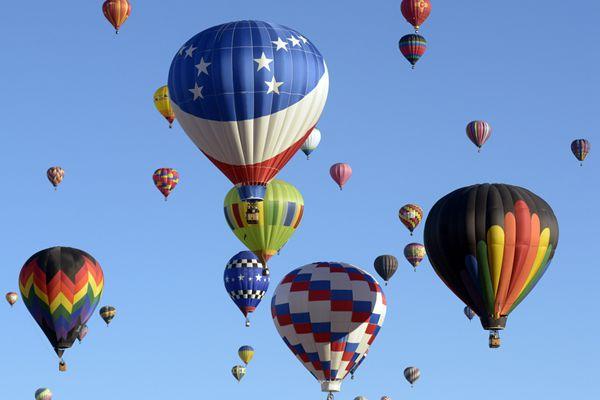 美国阿布奎基国际热气球节 五彩斑斓浪漫绝美