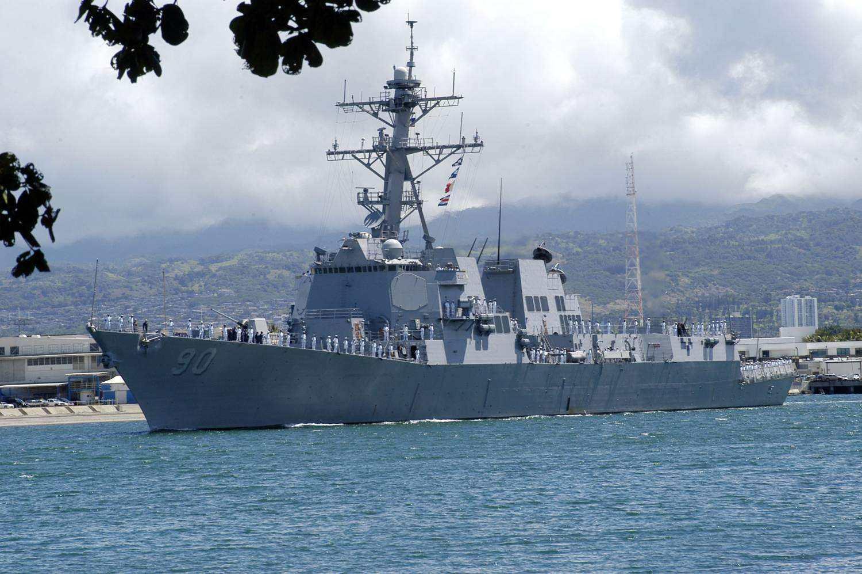 美军驱逐舰进入我西沙群岛领海 中方派舰机驱离