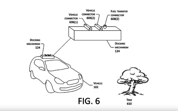 亚马逊新专利:使用无人机给电动车充电