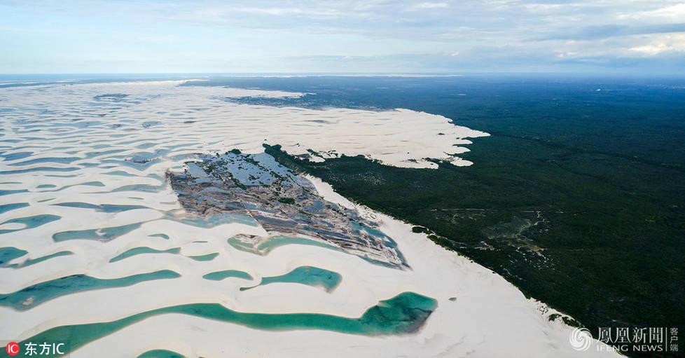 这是无人机镜头下的巴西潟湖