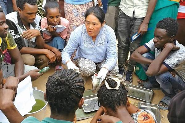 湖南女教授非洲教养鱼 带出3000学生