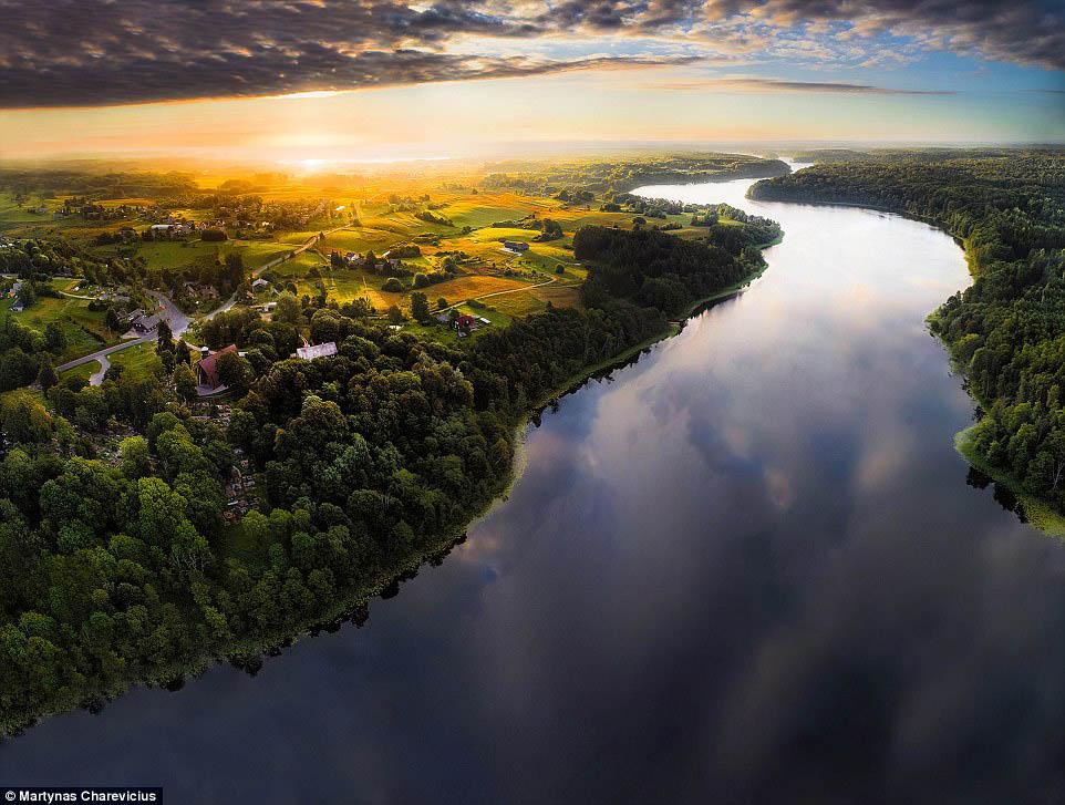历史古国立陶宛 航拍美景惹人爱