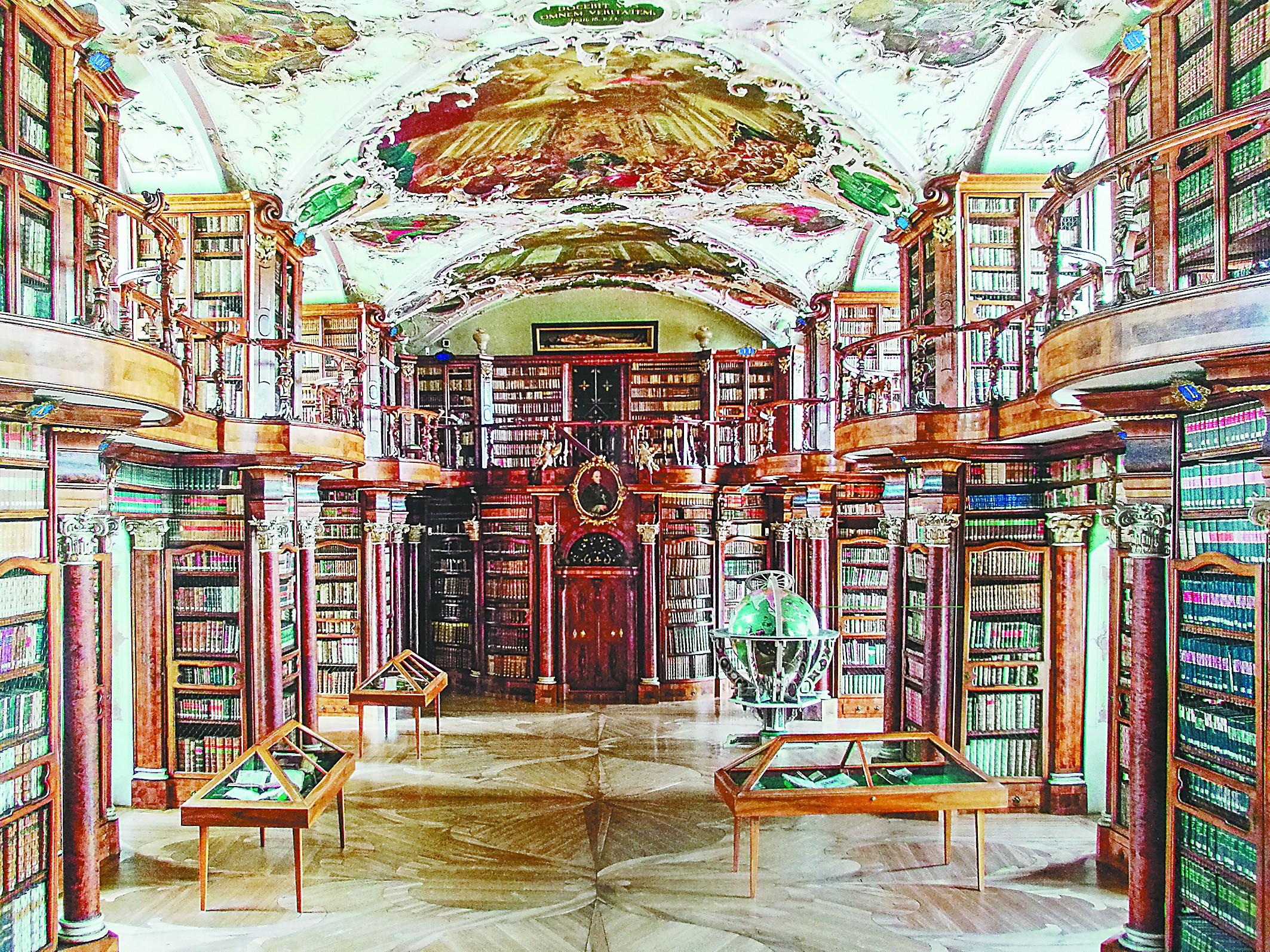 天堂应是图书馆的样子 在最美图书馆看最古老图书图片