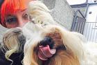 英女子与爱犬结婚八年