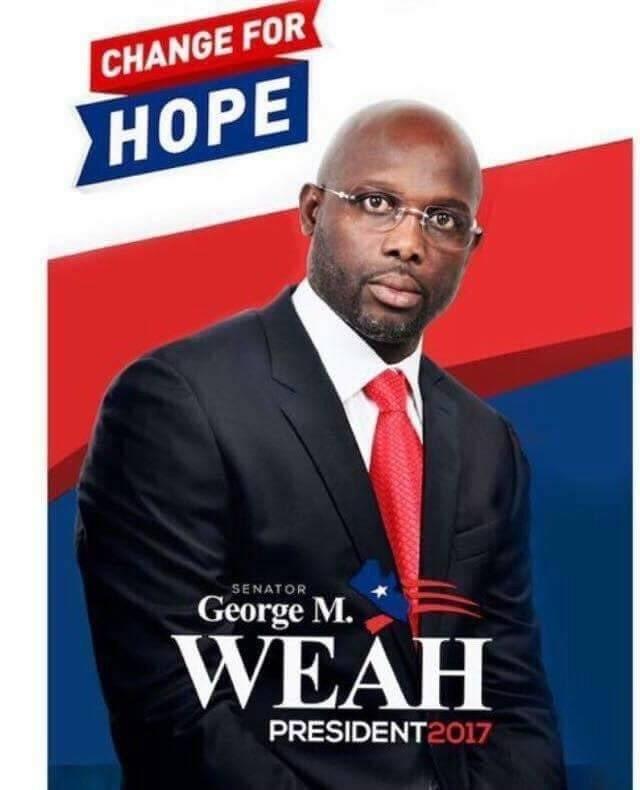 曝前米兰巨星维阿将当选利比里亚总统 第3次竞选