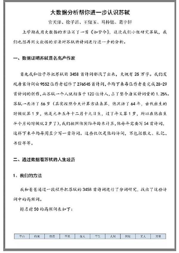 """小学生大数据研究苏轼爆红 校长回应是否""""拼爹"""""""