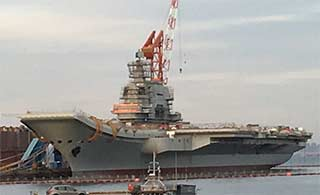 国产航母最新进展雷达还未安装完