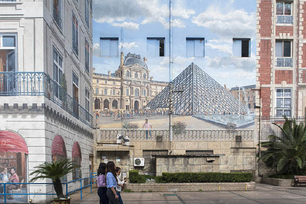 上海现彩绘欧式城堡建筑 整座巴黎城都被画上墙-财经_环球网