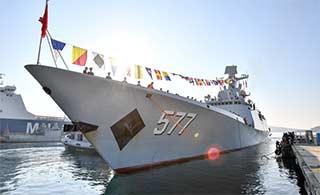 中国海军h护航编队访问法国