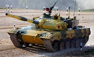 参加坦克大赛中国96坦克涂装奇特