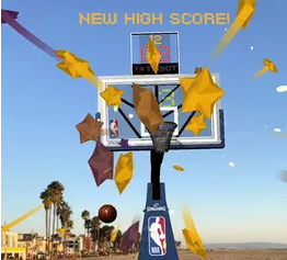 NBA为iPhone篮球迷发布增强现实篮球游戏