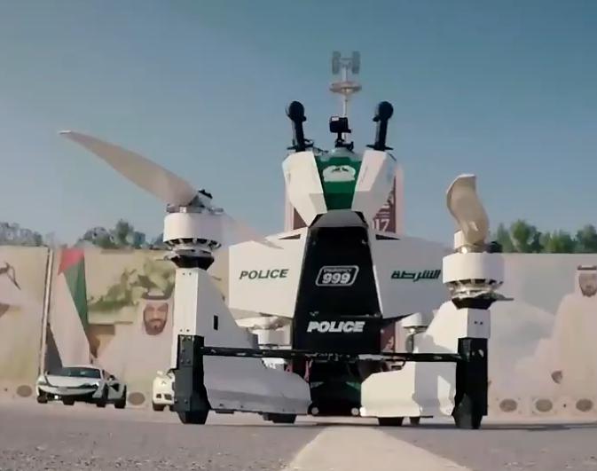 科技雷不撕:迪拜又有新款警车 这次会飞
