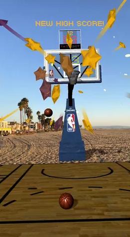NBA为iPhone篮球迷发布AR篮球游戏