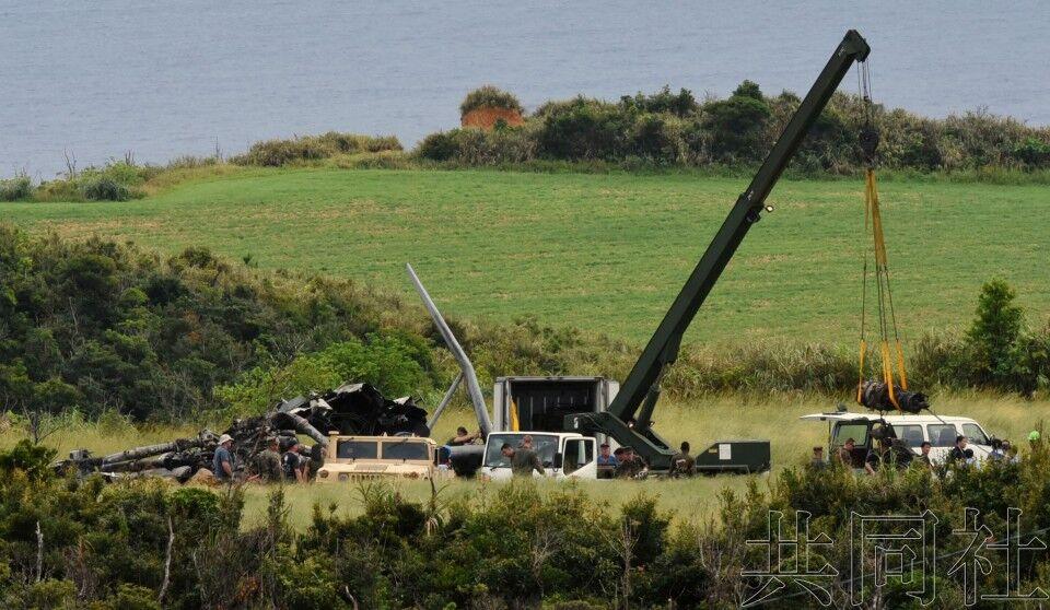 日冲绳起火美军直升机18日将重启飞行 事故原因不明