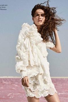 女模特瓦伦丁芭莎杂志写真