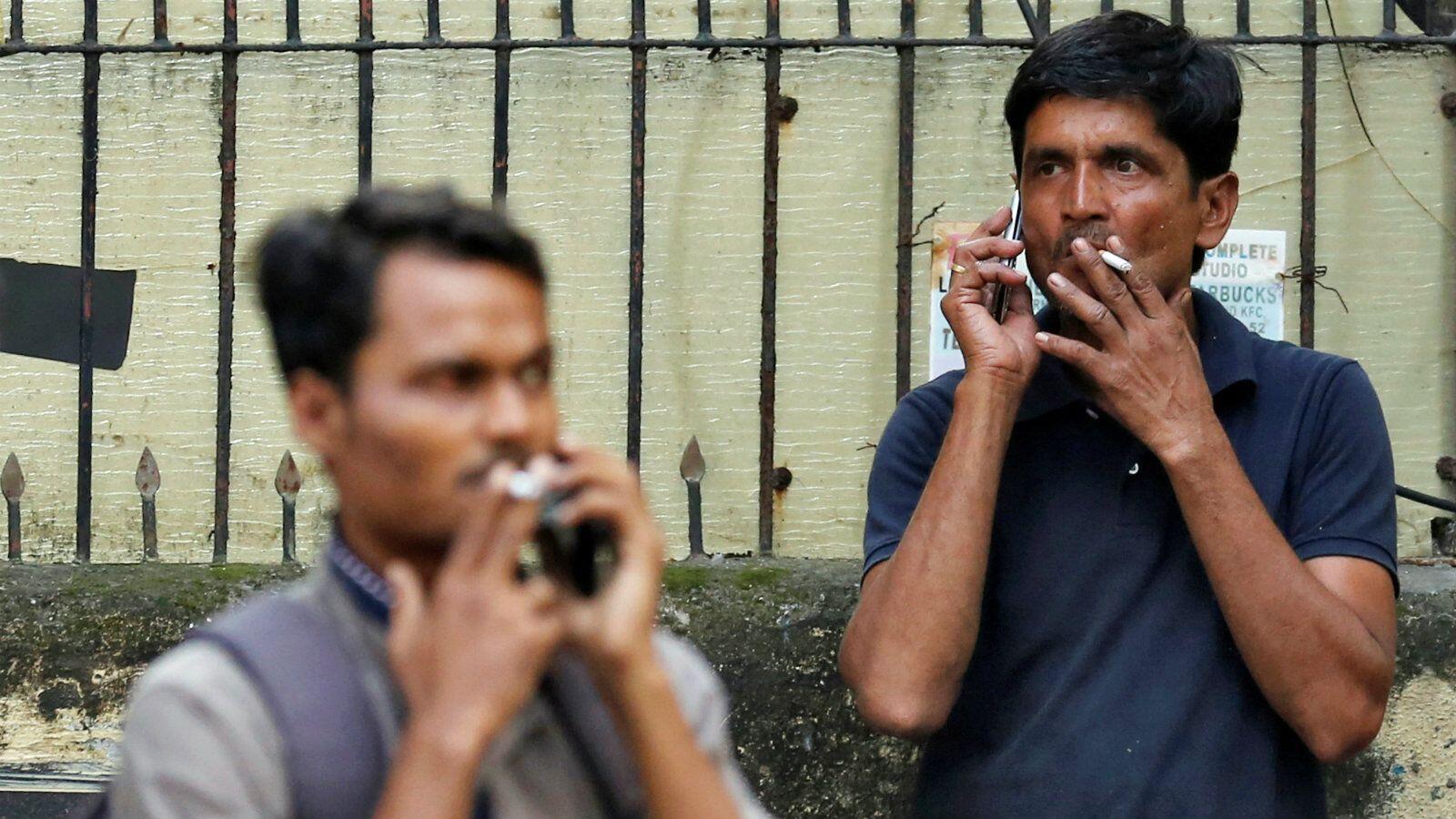 印度每年有90万人因吸烟成瘾而死亡