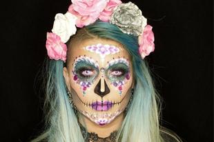 英国化妆师打造精彩万圣妆容