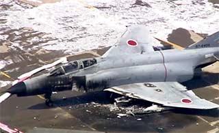 日本一架F4EJ战机起飞时失火