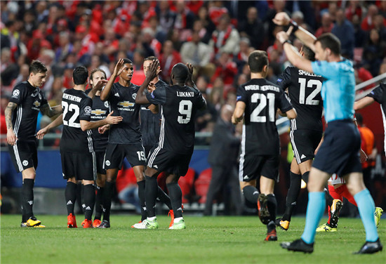欧冠-拉什福德任意球破门 曼联客场1-0胜本菲卡