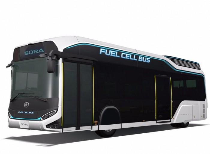 丰田将展示Sora燃料电池巴士 可容纳79名乘客