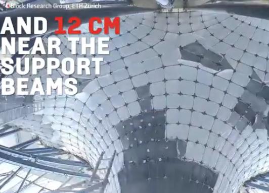 科技雷不撕:瑞士团队用混凝土建造出超薄弯曲屋顶