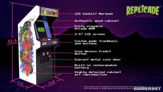 雅达利推迷你街机:3.5寸屏幕能玩老游戏