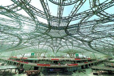 探访北京新机场建设进展 感受中国基础设施建设实力