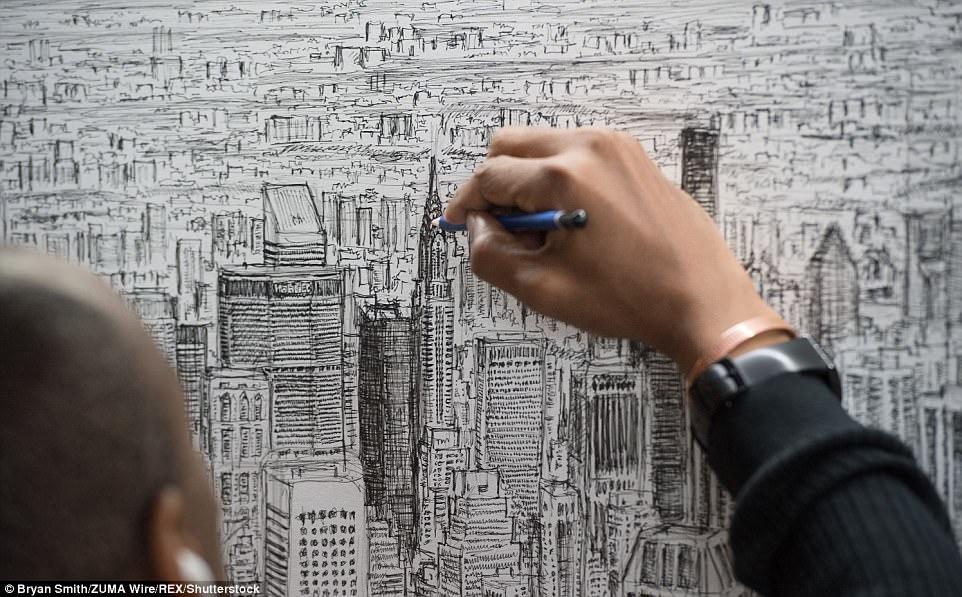 自闭症凭记忆画出纽约