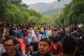 北京香山公园一天接待近5万名游客 人潮涌动