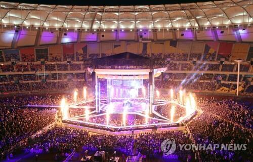 2017釜山同一个亚洲文化节开幕 K-POP天团亮相
