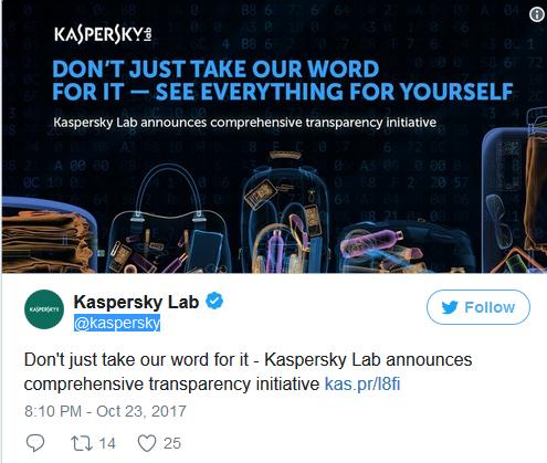 """卡巴斯基推""""全球透明度计划"""" 源代码审查证清白"""