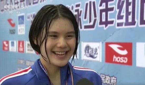她仅练6年游泳加冕蝶后 12岁初中生战5单项夺2金