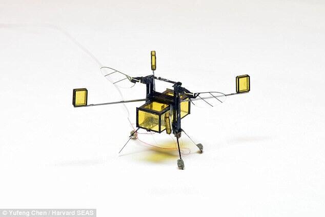 哈佛研发飞行潜水机器人比其他同类机器人轻1000倍
