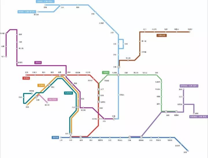 香港地铁图