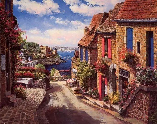 50幅油画,50个欧洲小镇