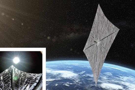 这技术有无前景?私人太阳帆飞船将进入太空