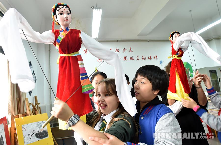 英国小学生扬州研学旅行 感受中国传统文化魅力
