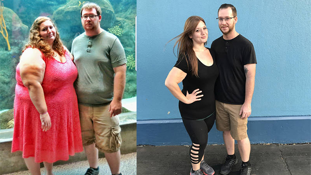"""美国夫妻一起""""掉肉""""430斤 减肥前后对比图惊人"""