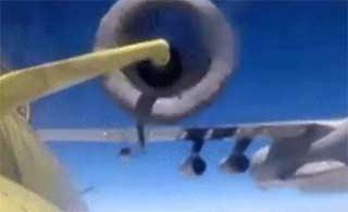 首见巴伊尔78为枭龙战机空中加油