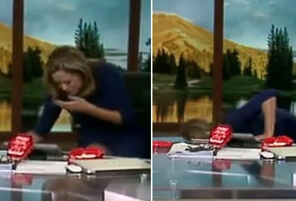 美国女主持直播中挑战世界最辣玉米片后呕吐不止