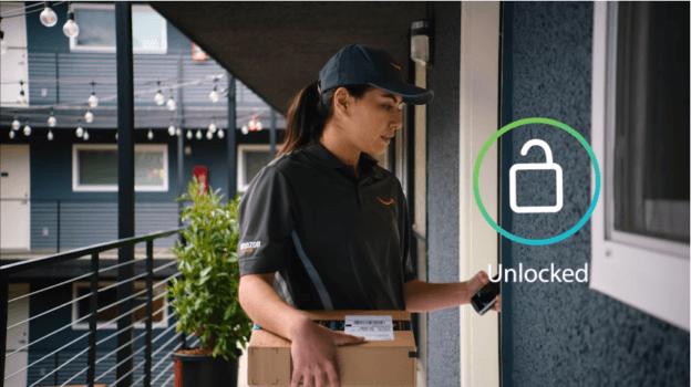 亚马逊推智慧门锁 人不在家也能送货进门