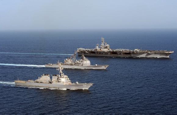 十分罕见!美军宣布三大航母战斗群将在西太军演