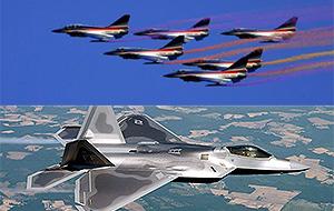 歼10战机将与F22同场献艺?