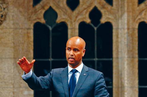 中国侨网加拿大联邦移民、难民和公民部长胡辛(Ahmed Hussen)。(加拿大《星岛日报》)