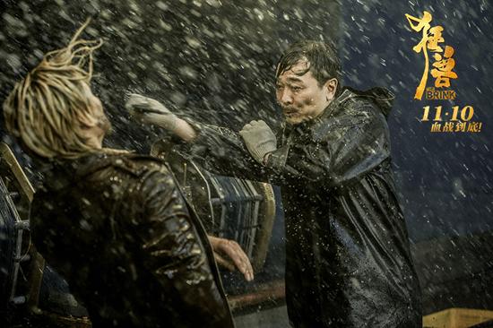 吴樾新片《狂兽》与张晋拼命斗狠